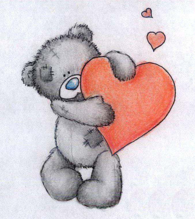 картинки ведмедика з сердечком она была древней