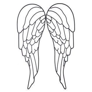 Black Metal Angel Wing Wall Decor
