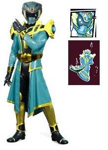 The Guardian Ranger from Power Rangers Super Legends DS