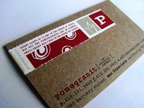 Desain Kartu Nama Unik tidak Biasa | press printed business card