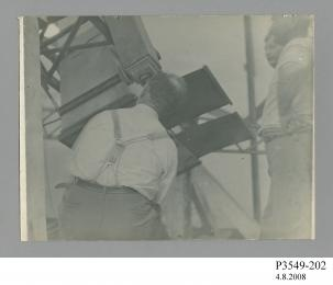 Lick Observatory eclipse expedition, Dr. Trumper and the 4.57 metre (15 foot) Einstein camera 1922