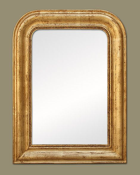 Petit miroir ancien louis philippe dor objets design for Miroir petit