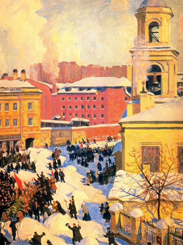 Февраль - Бориса Кустодиева