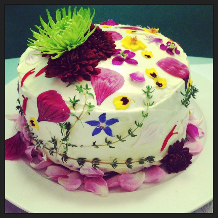 77 best cakes with edible flowers images on Pinterest Edible