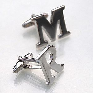 Personalised Initial Cufflinks - women's jewellery