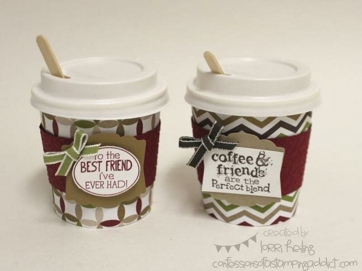 Disposable Coffee Cups Crafts Mini By Lorriheiling Cards And Paper At Unique Gifts Pinterest