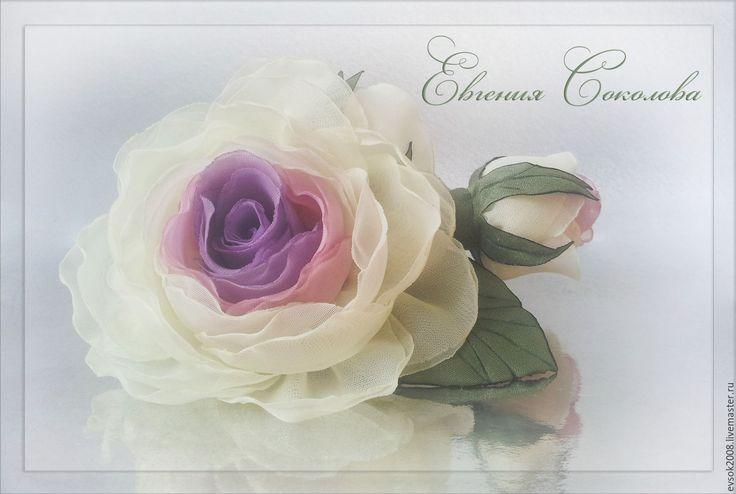 Купить Брошь Розы - свадебные аксессуары, для свадьбы, handmade, розы из ткани, подарок девушке