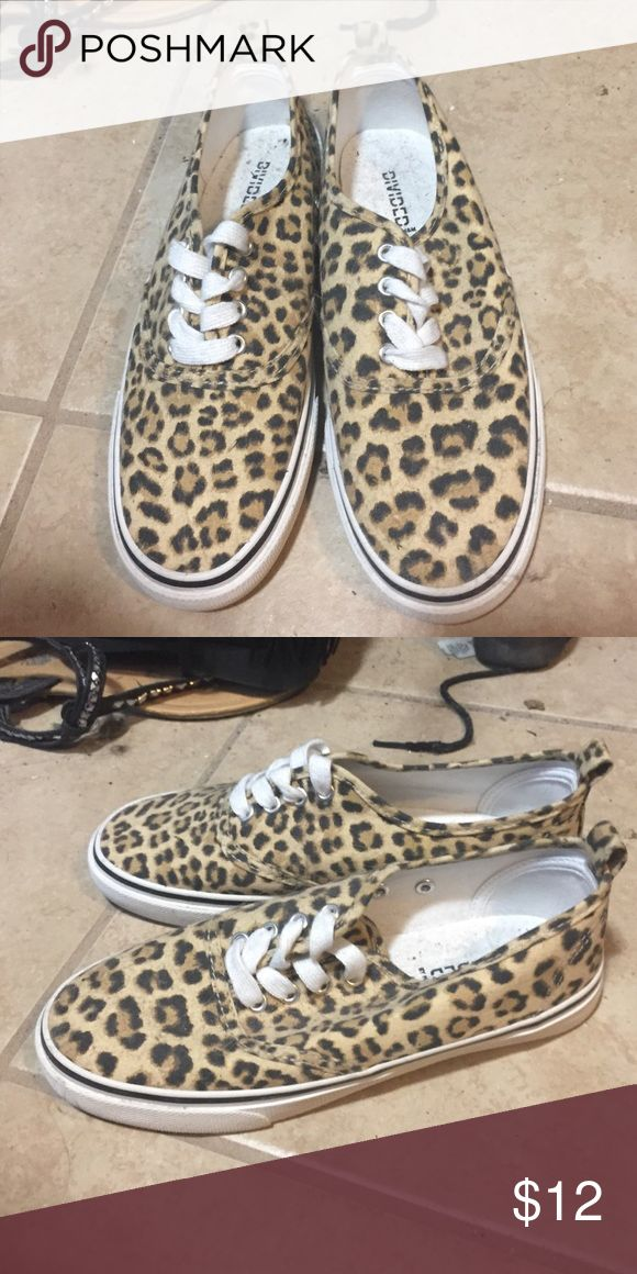 Cheetah shoes Never wore before. look like vans but I got them at Gordmans Shoes Sneakers