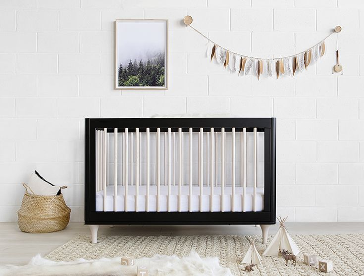Babyletto Lolly Cot In Black And Washed Natural Now Available Australia Babynursery Modern Nurseriescotskids