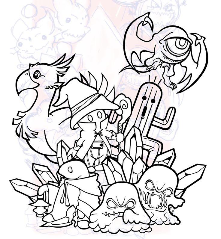 Behance :: Final Fantasy Tattoo Design by Ryan Sylke