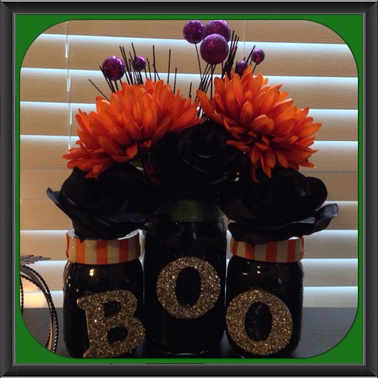 Halloween mason jar decor