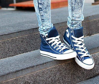 blue converse not sure about the high tops but love the color!
