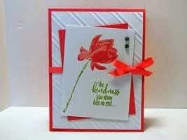 Peanuts and Peppers Papercrafting: Try It Thursday - Stampin' Up! Lotus Blossom Kindness Card