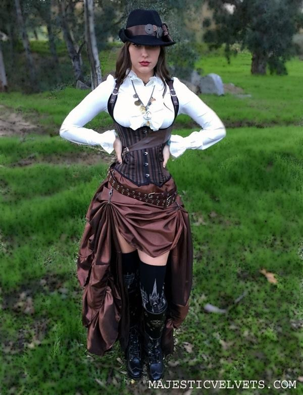 What The Hell Is Steampunk!?!? — corset and skirt, for sale: here