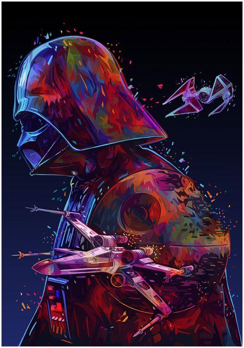 Star Wars Tribute Art by Alessandro Pautasso || FB
