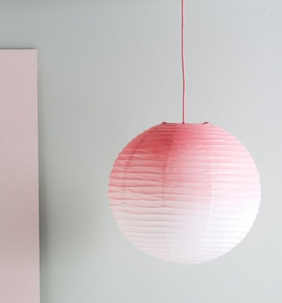 DIY Ombre Paper Lampshade