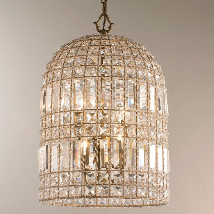 Crystal dome pendant small gorgeous bohemian chic lantern flaunts a gold finish and cut crystals in