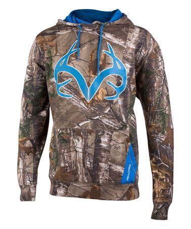 Look at this #zulilyfind! Brilliant Blue & Camo Deer Antler Maple Hoodie - Men's Regular #zulilyfinds