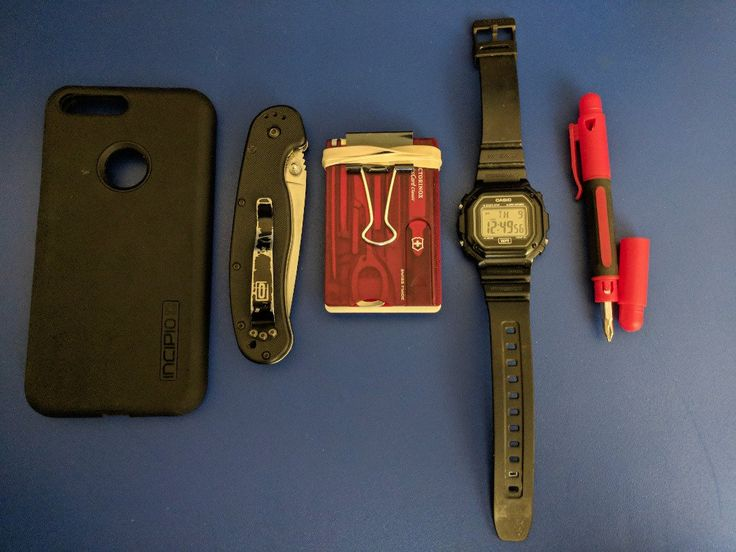 Walmart Special EDC  submitted by Neil  Google Pixel XL  Incipio Cell Phone Case for Google Pixel - Black  Victorinox Swiss Card Lite  Staples #19 Rubber Bands  Binder Clip  Casio Men's F108WH Illuminator Collection Black Resin Strap Digital Watch  Stanley 66-344 4-in-1 Pocket Screwdriver  Ontario RAT-1  Car Keys  My EDC is mostly pretty common cheap and efficient items. The older i get the less i like spending money. I use a binder clip and a rubber band as my wallet. It does a great job at…
