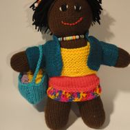 Alusa knitted doll