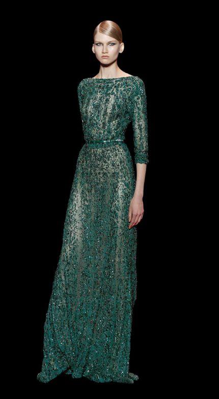 Coleccion Esmeralda - Vestidos de Elie Saab inspirados en las joyas de la corona