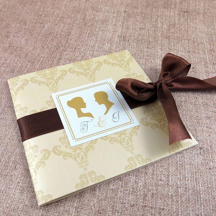 Invitaţie de nuntă Vintage Cameo http://designbyclarice.ro/