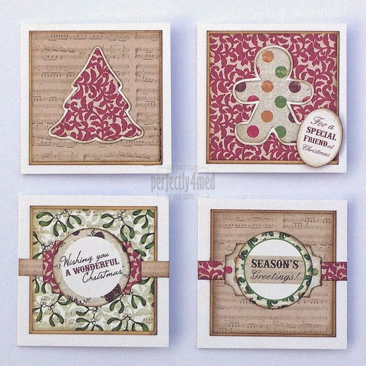 """Craftwork Cards Blog: Four Day Deal Samples [Mini Mania] - Part 1: The 6x6"""" Pads - Mistletoe mini-cards by Neil Burley"""