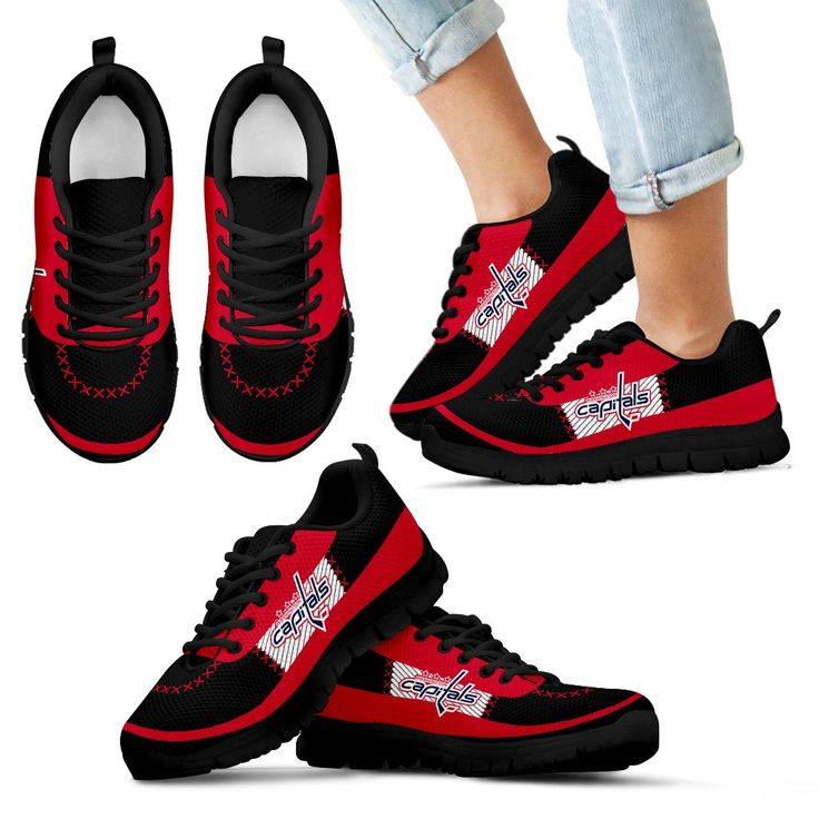 Cross Thread Seamless Beautiful Logo Washington Capitals Sneakers – Best Funny Store