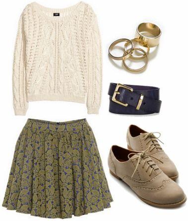De la laine, une jupe, de beaux soulier, je suis heureuse.