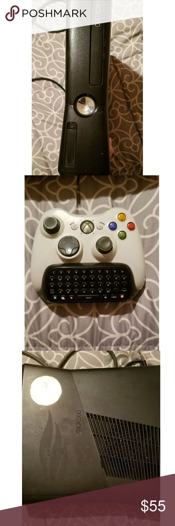 Xbox 360 Xbox 360 Slim does have a sticker on it as shown in  the pictures comes with two remotes a keyboard and 7 games ~ Forza Motorsport 4 Midnight Club Los Angeles  Forza Motorsport 2  Saints Row 2 Call of Duty Black Ops  Thief  Need for Speed Pro Street In good condition everything works  Make an offer ❤ Xbox 360 Other