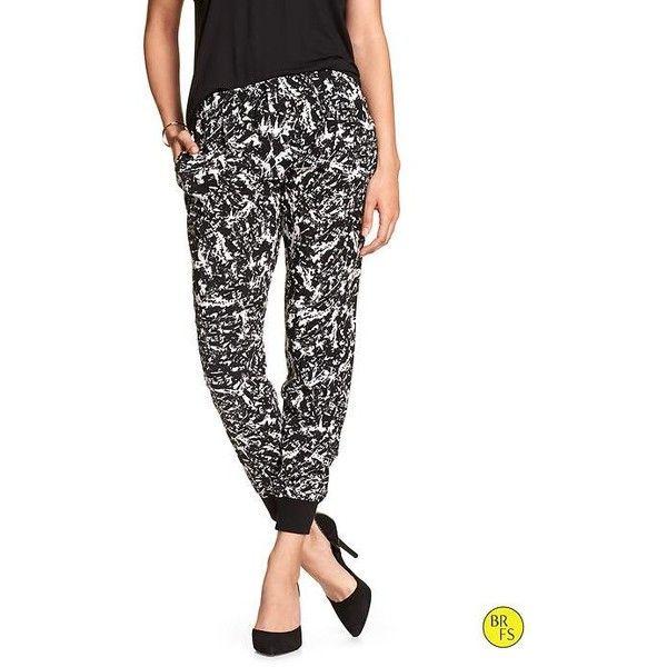 Banana Republic Womens Factory Soft Pant Size XXS Black