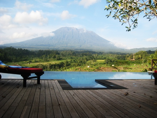 Mount Agung Iseh view from Walter Spies, Bali