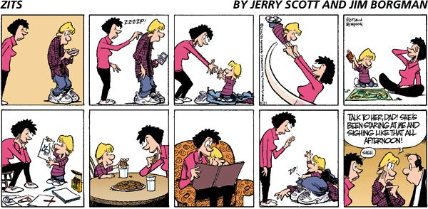 Especially love this Zits comic strip ~ I wish I could have my little boys back for a day here and there :)