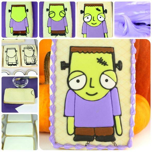 How to Make Halloween Decorated Cookies (My Mind's Eye 'Blackbird' Scrapbooking Paper)