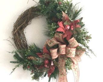 Outdoor Christmas Wreath, Artificial Christmas Wreath, Winter Wreaths For Front Door, Holiday Door Decoration, Christmas Wreaths For Sale