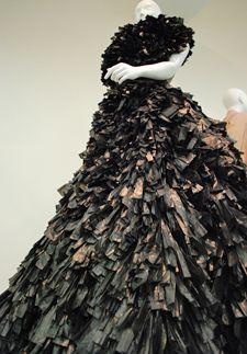 Lady Gaga ARTPOP shredded bin bags dress goes on public display in Women Fashion Power show | Culture24