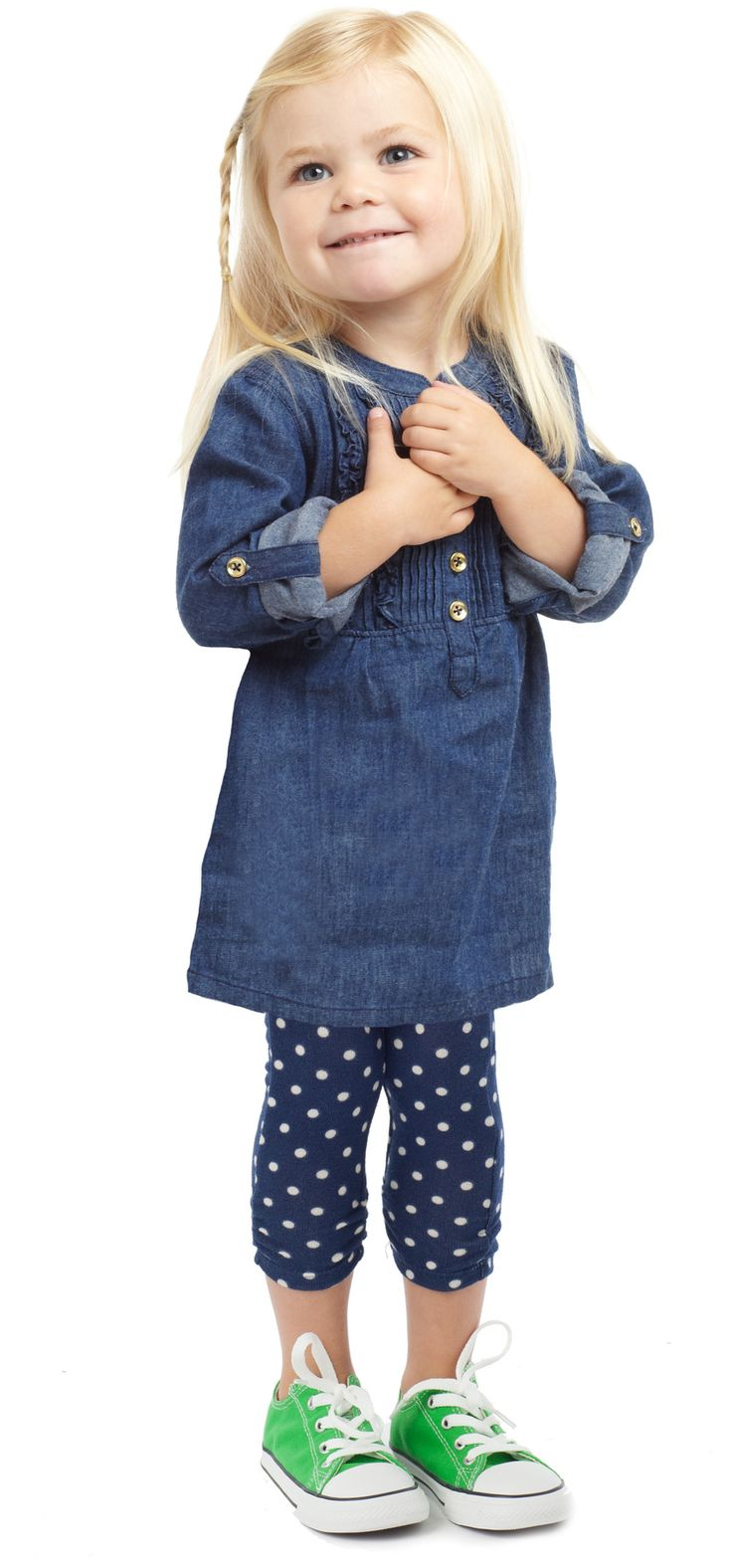 Denim & Dots Outfit. @ kim and Robyn!!'