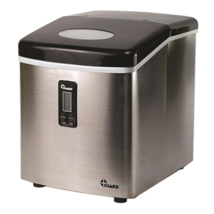 Chard 35 lb freestanding ice maker in stainless steel