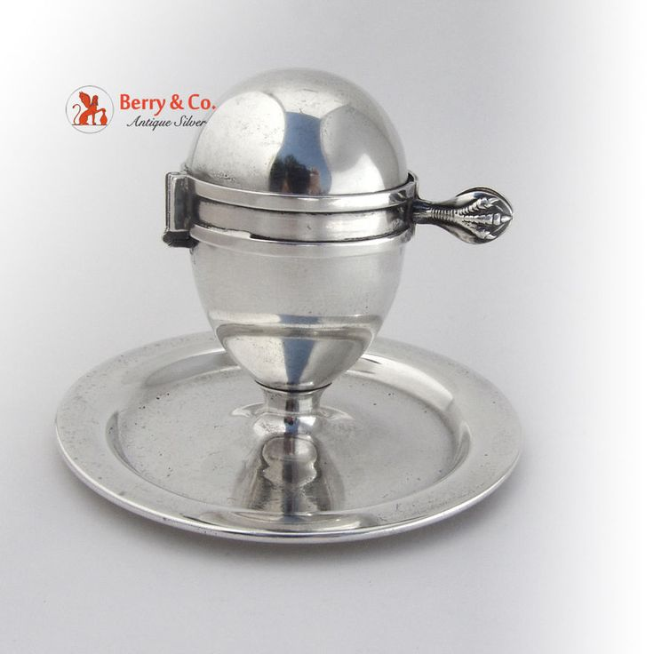 Egg Cup and Cutter Patent 1910 Sterling Silver