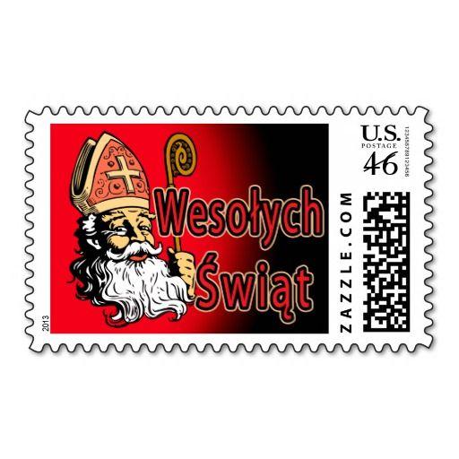 St. Nicholas Wesolych Swiat Postage
