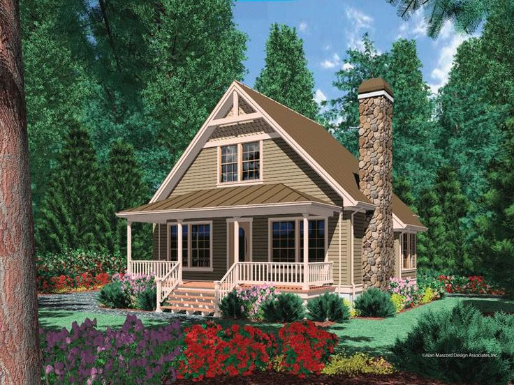 House Plan 2559 00225   Cottage Plan: 950 Square Feet, 1 Bedroom, 1  Bathroom. Country House PlansCountry HousesCabin ...