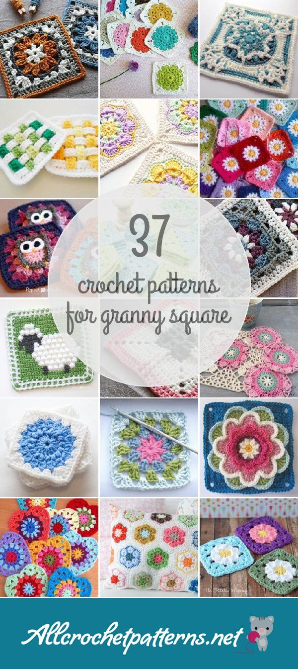 37 Granny Square Crochet Patterns
