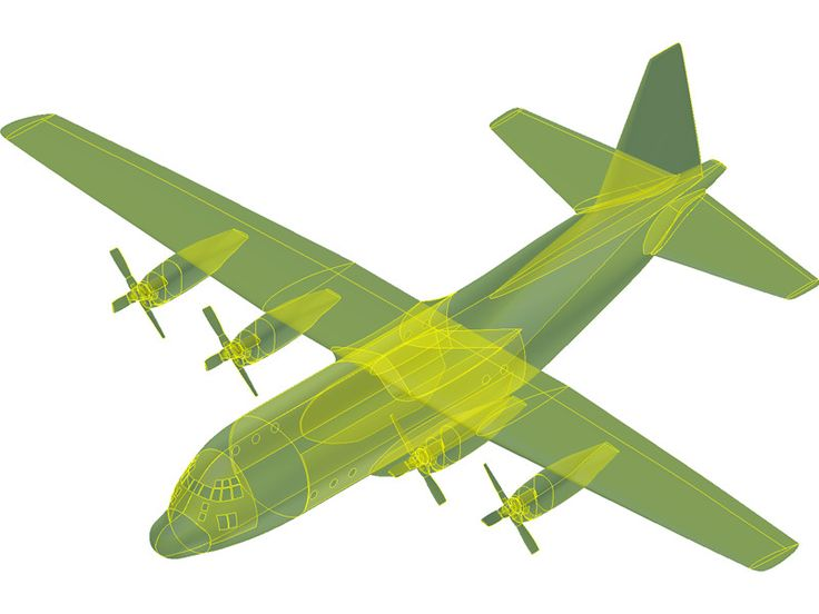 Lockheed C-130 Hercules [NURBS] 3D Model