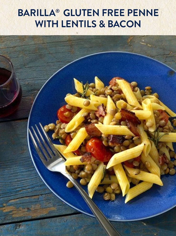 Gluten Free Penne with Lentils & Bacon   Recipe   Penne ...