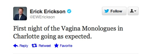 NEWS ARTICLE: CNN's Erick Erickson Compares DNC To The Vagina Monologues In A Tweet