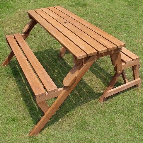 Phenomenal Merry Products Interchangeable Picnic Table Garden Bench Gmtry Best Dining Table And Chair Ideas Images Gmtryco