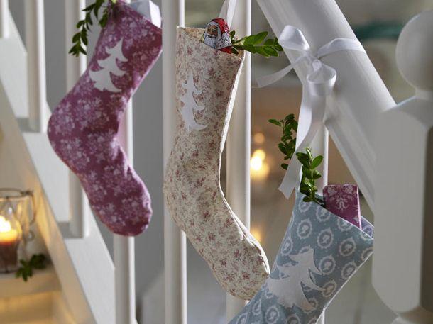 Perfekt, um darin Weihnachtsgeschenke zu verstauen: Unsere DIY-Weihnachtssocken