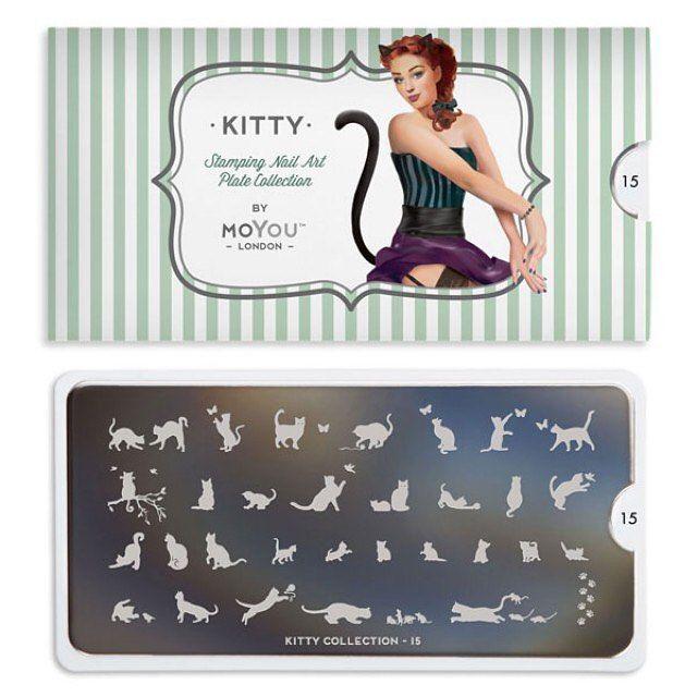 Kitty15のイメージプレートはこちら  #ネイル #セルフネイル #スタンプネイル #ネイルシール #ネイルスタンプ #moyoulondon #moyou #ネイルスタンプの使い方 #ネイルスタンププレート #ネイル画像 #ネイルデザイン #ネイルアート #スタンピングネイル #ネイル用品