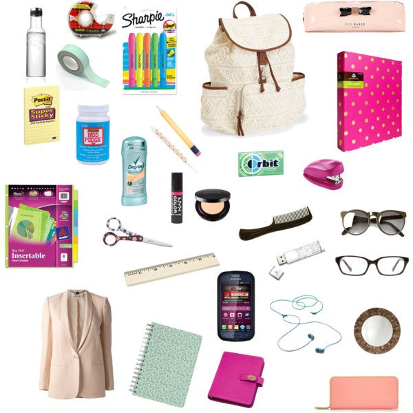 """School Essentials"" on Polyvore"