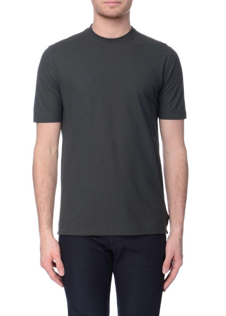 Zanone - SS17 - Menswear // Khaki t-shirt in cotton